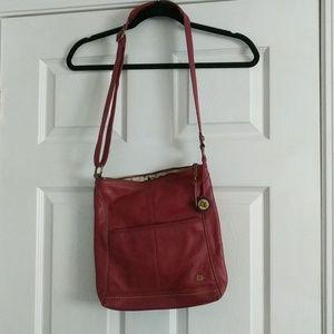 The Sak red leather crossbody purse
